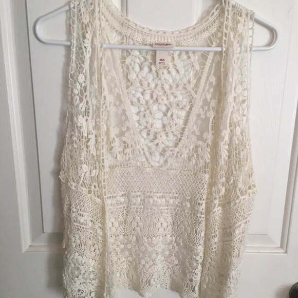 Mossimo Supply Co. Jackets & Blazers - Lace cover up vest mossimo Coachella